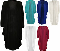 New Womens Plus Size Knitted Short Batwing Sleeve Ladies Long Cardigan Top 16-26