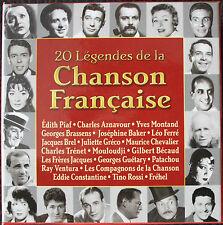 CD 20 LÉGENDES DE LA CHANSON FRANÇAISE - coffret 20 CD