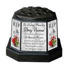 Personalised Memorial Vase Pot. For garden, grave etc. Mum, Dad, Friend, Name