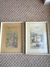 T H Victor Watercolours Scenes Of St Ives 2 paintings