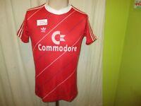 "FC Bayern München Original Adidas Trikot 1985/86 ""Commodore"" Gr.S TOP"