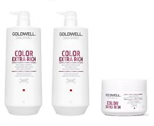 Goldwell Dualsenses Color Extra Rich Shampoo 1000ml, Conditioner 1000ml and 60se