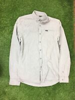 Mens Firetrap Size Medium Grey Long Sleeved Casual Shirt