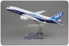20CM Solid BOEING 787-8 Passenger Airplane Plane Aircraft Metal Diecast Model