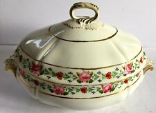 Georgian Derby Porcelain Large Tureen Rose Border English Circa 1790-1810