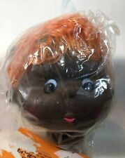 Vintage Fibre Crafts Mitzy Plastic Doll Head & Hands - Orange Hair Darker Skin