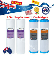 2 Set 0.5 Micron Sediment Coconut Carbon Replacement Water Filter Cartridges