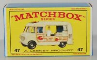 Matchbox Lesney No 47  COMMER ICE CREAM CANTEEN  Repro empty Box style E