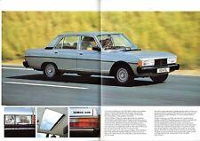 Peugeot 604 1980-81 UK Market Sales Brochure SL Ti Turbo Diesel