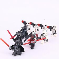 10Pcs set Star Wars Maul Darth Vader StormTroopers custom Lego Minifigures