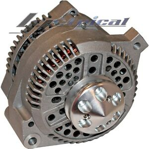 HIGH OUTPUT ALTERNATOR For FORD LINCOLN HOTROD ONE 1 WIRE BILLET PULLEY 250 AMP