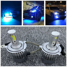 H4 9003 HB2 LED Headlights Bulbs Conversion Kit High Low Beam 8000K ICE BLUE 55W