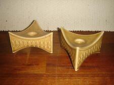 Pair of Triangular Candlesticks RELIEF Jens H. Quistgaard Bing & Grondahl -Kronj