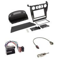 BMW 5er (E60) 2003 - 04/2007  2-DIN Radioblende schwarz + ISO Adapter Set