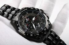 New w/Box Authentic Casio Edifice Black EF-550-D7AV Stainless Steel Wrist Watch
