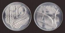 10 LIRE 1969 SPIGHE E ARATRO - ITALIA FDC/UNC FIOR DI CONIO