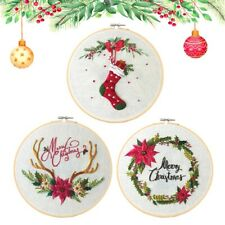 3 Pack Christmas Embroidery Kits - Easy Operation - Complete Accessories
