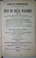 Ruoff- Guide de l' homoeopathe 1851 Omeopatia medicina libro antico