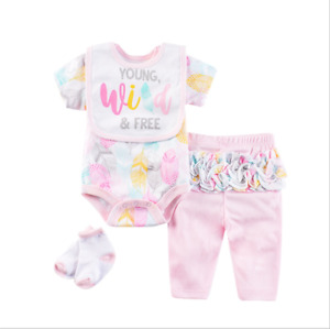 """Reborn Baby Dolls Clothes Girl Pink Outfit Sets for 22-24"""" Newborn Accessories"""