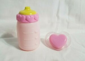 Luvabella Newborn Replacement Bottle Pacifier Only Pink Hearts