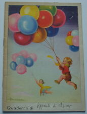 Quaderno scolastico anni '30 illustrato da Adolfo Busi