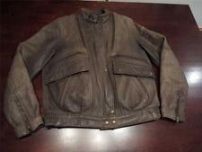 Vtg Hein Gericke Womens Sexy Distressed Brown Leather Motorcycle Jacket Sz 38
