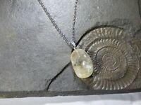 Citrine nugget pendant Necklace The Wealth Stone healing Gem Chakra Reiki silver