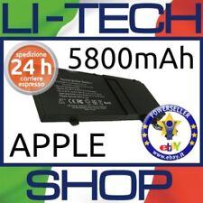 Batteria 5800mAh per APPLE MAC BOOK PRO 13.3 POLLICI 2012 ALUMINUM UNIBODY A1278