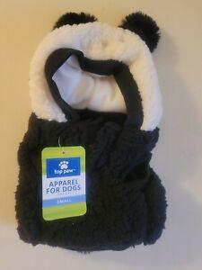 Top Paw Panda Fleece Hoodie for Dogs~Small NWT