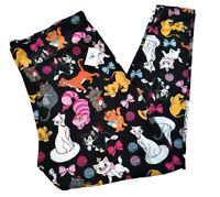 NWT Disney Parks CATS Leggings Cheshire Marie Figaro Simba Black Women's 1X
