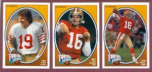 1991 Upper Deck Heroes NFL FOOTBALL CARD JOE MONTANA NAMATH SEE LIST