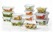 Glasslock 24-Piece Oven Safe Food Storage Container Set, Easy Snap Lid