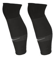 Nike Strike Leg Sleeves - For Slip-In Shin Guard Shin Pads  One Pair Black Grey