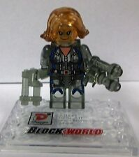 Clear ICE Black Widow Minifigure movie tv show  Avengers transparent