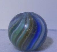 8650m Vintage German Handmade Onionskin Lutz Marble .63 Inches