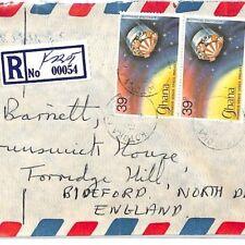 GHANA Cover Kotoka Registered Commercial Air Mail SPACE CHAMELEON 1979 CF41