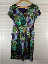 ALANNAH HILL sz 10 womens silk print Frock / Dress NEW RRP$369 [#931]