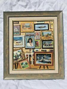 Alan King oil painting Artist studio train hawker hurricane racing car ship golf