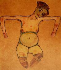 Egon Schiele, Pregnant Woman 1910, Hand Signed Lithograph