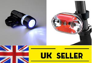 front 5 led & rear 9 led light lights set for bike bicycle mountain road lamp UK