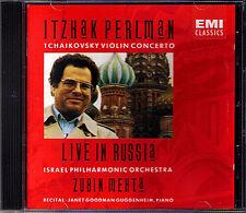 Itzhak PERLMAN Live in Russia TCHAIKOVSKY Zubin Mehta EMI CD Violin Concerto