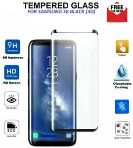 Tempered Glass Screen Protector For Samsung Galaxy S8 (3D/CURVED)