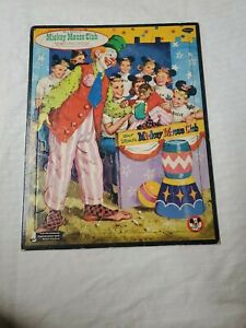 WALT DISNEY 1957 FRAME TRAY PUZZLE by WHITMAN COMPLETE Mickey Mouse Club TV