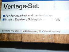 Verlege-Set Zugeisen Schlagholz + 10 Keile für Fertigparkett & Laminatboden NEU