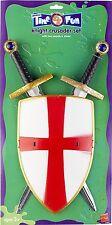 CAVALIERE Crociato Set, con due spade e scudo