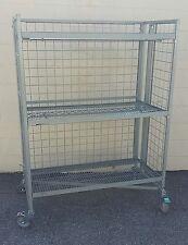 Used $980 Ret. Store Fixture IRSG folding Nesting Wire Cart, Rack SCHU9 NTM48GHR