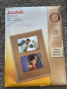 KODAK PREMIUM PHOTO PAPER GLOSS 25 SHEETS 8 1/2 x 11 - 66 lb
