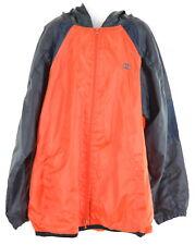 CHAMPION Girls Tracksuit Top Jacket Size 12 Large Orange Grey Polyester