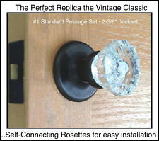 Perfect Interior Crysta & OIL RUBBED BRONZE Passage Set-COMPLETE RoussoUSA