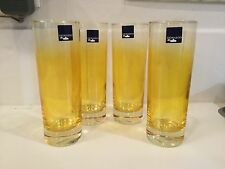 Leonardo Germany Highball Drinking Yellow Glasses (4)NWT
